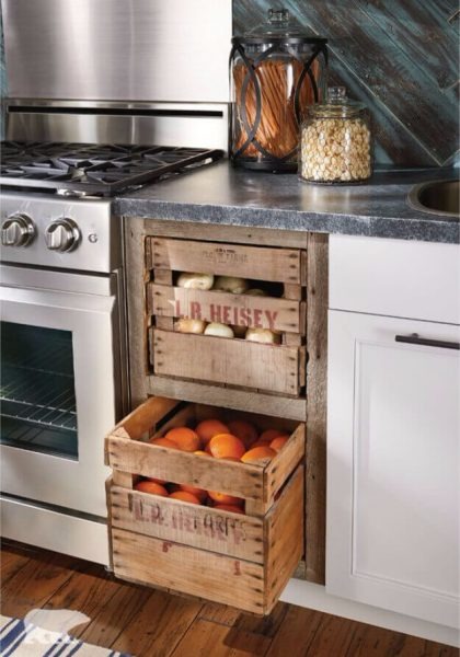 FARMHOUSE KITCHEN DECOR IDEAS Make Use of Market Crates