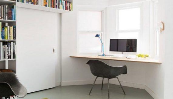 Floating Corner Desk Facing The Window