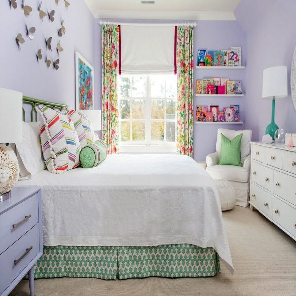 girls room decor ideas Purple with Pops of Colors